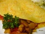 Zeleninové palačinky s kuřecím masem recept