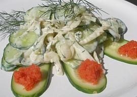 Osvěžující fenyklovo  okurkový salát recept