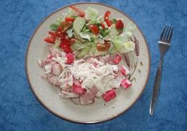 Surimi  lehká večeře recept