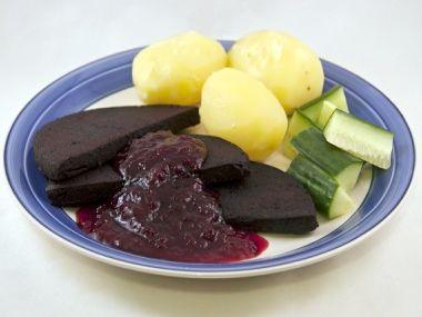 Blodpudding  švédská specialita