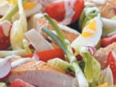 Recept Jarní salát s kuřecím masem