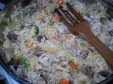 Srdíčková rýže s vlasovými nudlemi recept