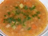 Cizrnová polévka se zeleninou recept
