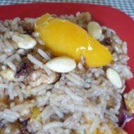 Kuřecí prsa s rýží a broskví recept