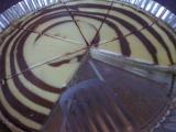 Mramorovaný koláč plný tvarohu a čokolády recept