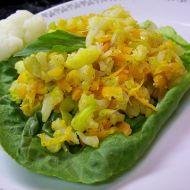 Teplý pórkový salát s květákem recept