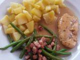 Kuřecí přírodní plátek se zelenými fazolkami recept