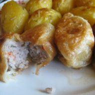 Mleté maso v listovém těstě recept