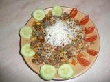 Rizoto ze sójového granulátu s hovězím ,sypané mandlemi recept ...