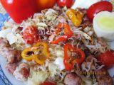 Zeleninové špagety s vinnou klobásou recept