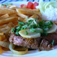 Steak s bílou ředkví recept