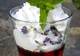 Pudink s levandulovým tvarohem recept