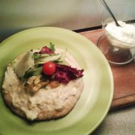 Lehká česneková pomazánka recept