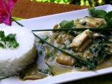 Rybí zelené kari recept