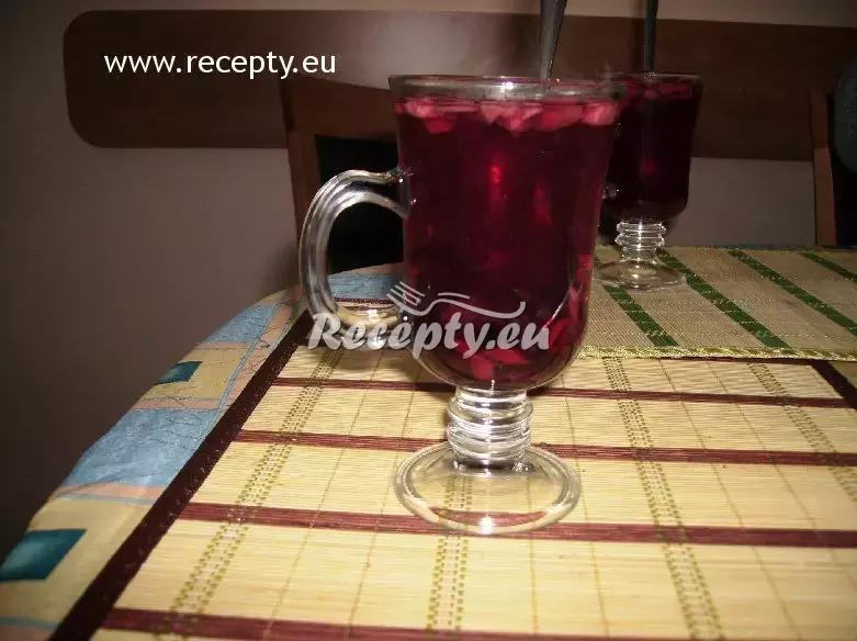 Zapékaný rumový ovocný čaj recept  teplé nápoje