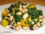 Okaté fazole se špenátem a dýní recept