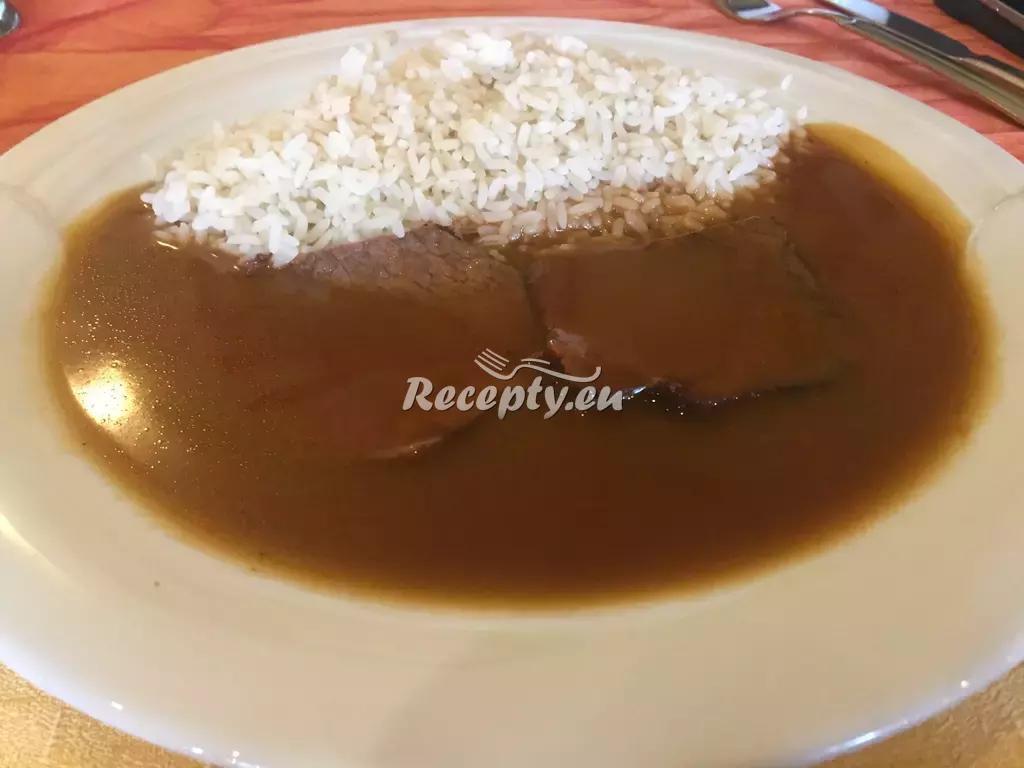 Hovězí maso na česneku recept  hovězí maso