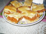 Jablečné řezy. recept
