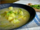 Pórková polévka s česnekem recept