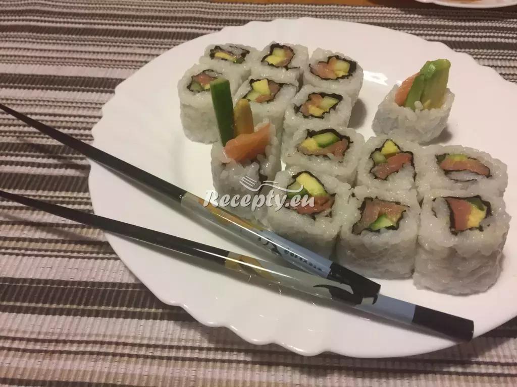 Sushi Uramaki- California roll a Philadelphia roll recept  zahraniční ...