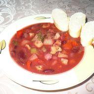 Zeleninový boršč s masem recept