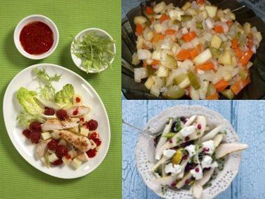 Saláty s ovocem  rychlovka do 20ti minut