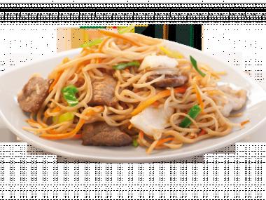 Thajský nudlový salát s hovězím masem