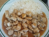Čína z kuřecího masa s rýží recept