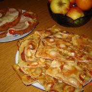 Bramboráková pizza recept