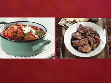 Oběd 95  Boršč a Žebírka