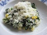Špenát s rýží a vejcem recept