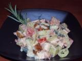 Řízkový salát recept