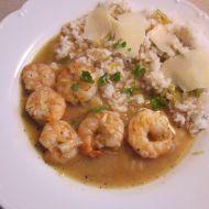 Garnáti s rýží recept