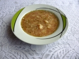 Ředkvičková polévka s květákem a vločkami recept