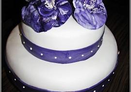 Svatební dort s kytkami recept
