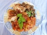 Kuřecí se žampiony, paprikou a rajčetem recept
