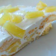 Rychlý nepečený ananasový dort recept