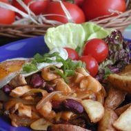 Kuřecí směs s lečem a fazolemi recept