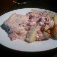 Kotleta na slanině se smetanovou omáčkou recept