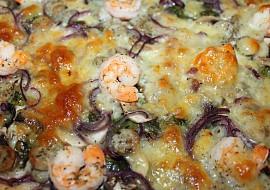 Pizza  mangold, krevety ... recept