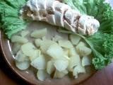 Kuřecí roláda se slaninou a hruškama recept