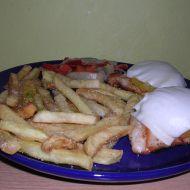 Kuřecí prsa s broskví a sýrem recept