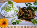 Cuketa na čínský způsob se sezamem recept