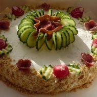 Slaný sýrový dort recept