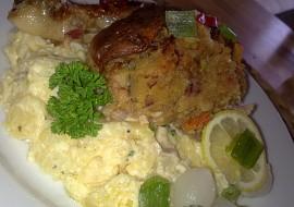 Kuře plněné směsí z cukety, slaniny a barevné zeleniny recept ...