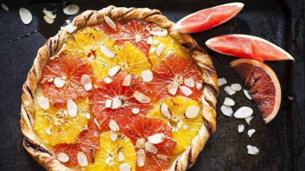 Citrusový koláč s mandlemi