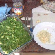 Zapečené těstoviny se špenátem a nivou recept