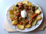 Vepřové plátečky v zelenině recept