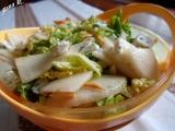 Hruškový salát s mandlemi recept