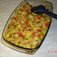 Zapečené brambory s mixem zeleniny recept